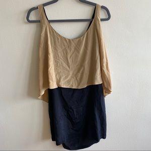 Anthropologie MYNE 100% Silk Two Tone Dress